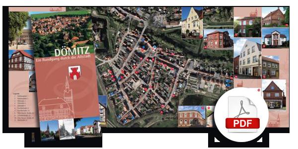Flyer: Rundgang durch die Altstadt von Dömitz