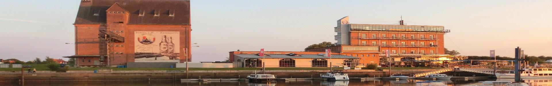 Abendsonne mit Hafenpanorama in Dömitz