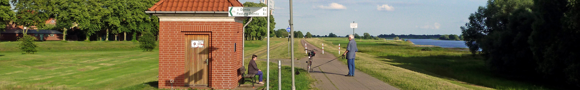 Elberadweg in Dömitz - Foto: Jörg Reichel