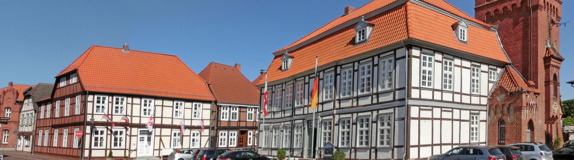 Rathausplatz in Dömitz - Foto: Jörg Reichel