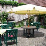 Gemütlicher Cafégarten in der Alte Zunft Dömitz