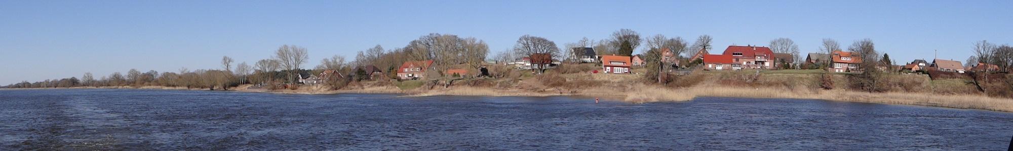Rüterberg von der Elbe aus gesehen